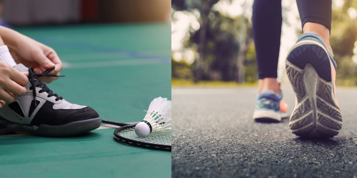 The Difference Between Running Shoes and Badminton Shoes